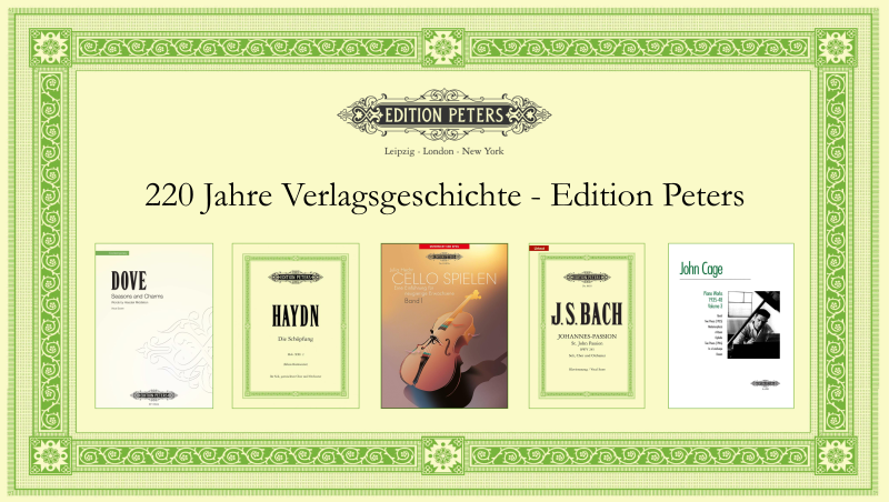Edition Peters - Musikverlag - Noten-Werbeanzeige